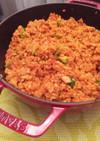 お鍋で生米から炊く本格ジャンバラヤ
