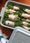 レンジで簡単 豚バラと豆苗の蒸ししゃぶ