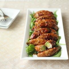 アボカドの豚肉ロール~ハニーバルサミコソテー~