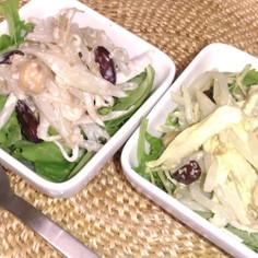 「安い食材代表もやし」とごぼうのサラダ