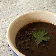 スロークッカーでブラックビーンズ スープ