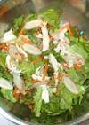 サラダチキンとごぼうの梅肉サラダ♪鶏胸肉