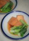 小松菜と厚揚げのあごだし煮物