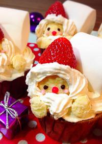 クリスマス★*サンタカップケーキ*★