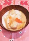 あったまる♡鶏肉団子と白菜のミルクスープ