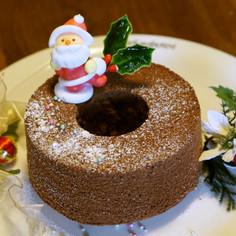 米粉のココアシフォン(油無し)クリスマス