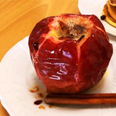 ラム香る♪レーズンたっぷり焼き林檎