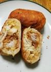 ピザ生地で簡単カツ丼ピロシキ