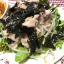 もやしいっぱい韓国風豚しゃぶサラダ