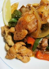 鶏もも肉のソテー*醤油ハニーマスタード