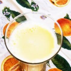 蜂蜜入りオレンジミルク