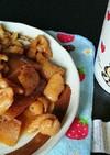 冷凍こんにゃくと鶏皮の照り焼きつまみ。