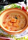 お豆腐とパプリカの玄米雑炊