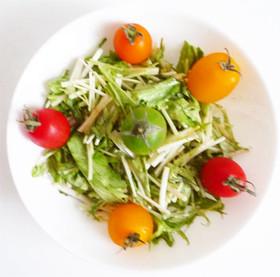 水菜とプチトマトの怪味ソース 四川サラダ