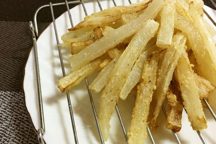 大根 フライド ポテト 大根の新定番。サクッとジューシー「フライド大根」の人気レシピ