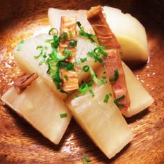 麺つゆで簡単美味♪大根とアタリメの煮物♡