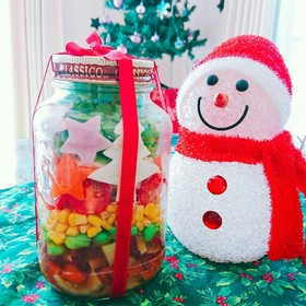 クリスマス★カラフルジャーサラダ