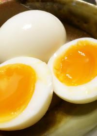 簡単♪塩味半熟ゆで卵を自宅で★作り置き