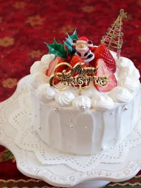 *クリスマス☆苺のデコレーションケーキ♪