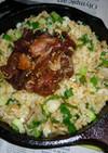 ネギたっぷり+ネギトロのパラパラ炒飯