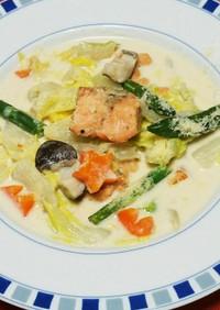鮭と白菜たちのクリーム煮