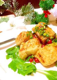 クリスマスディナーに♡高野豆腐の唐揚げ