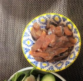 ぶりのお刺身、柚子胡椒の醤油漬け