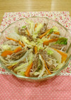 白菜と豚肉のレンジ蒸し