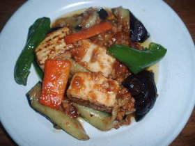 夏野菜マーボ豆腐