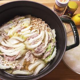 簡単鍋レシピ豚肉のミルフィーユ