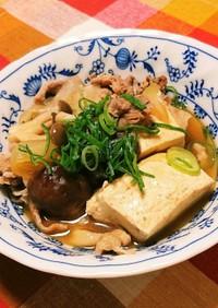 手抜きの肉豆腐!