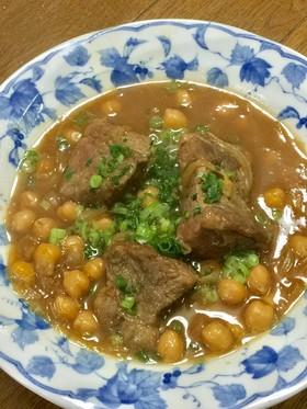 豚肩ロースとひよこ豆の味噌煮込み