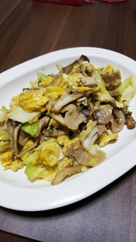 簡単!節約☆豚肉と舞茸の卵炒め