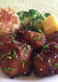 鶏の唐揚げハワイアン