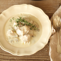 鶏肉とマッシュルームのクリーム煮