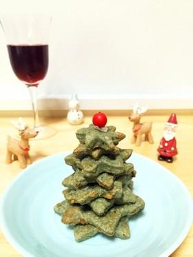 スピルリナ入りクリスマスクラッカーツリー