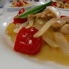 ズッキーニと鶏肉の味噌バターチャンプルー