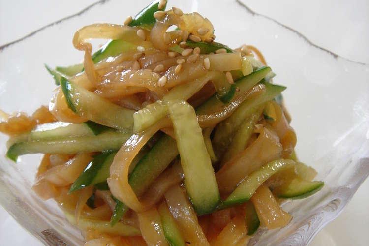 くらげときゅうりの中華サラダ レシピ・作り方 by YUZUMAMAN 【クックパッド】 簡単おいしいみんなのレシピが358万品