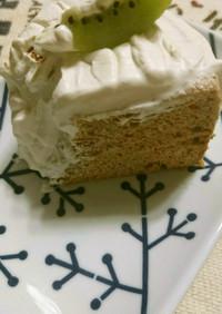 黒糖の芳ばしい米粉シフォンケーキ