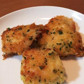 簡単★鶏むね肉の香りパン粉焼き