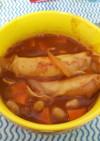トルティーヤ風ウインナー入り野菜スープ