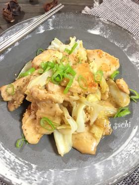 鶏むね肉とキャベツの甘味噌マヨ炒め♪