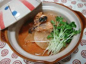 アンコウと大根の韓国風煮