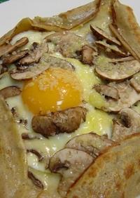 蕎麦粉のクレープ(ガレット)