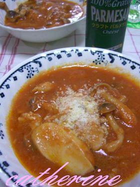 トマトジュース煮込みパルメザンチーズ風味