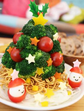 ノンフライヤー♪揚げ麺クリスマスサラダ