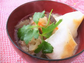 鶏味塩 de お雑煮(東北版)