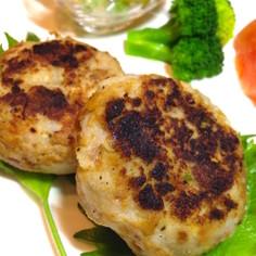 高野豆腐そぼろの里芋ハンバーグ