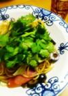 香菜と青唐辛子&アンチョビオリーブパスタ