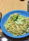 ❶水菜のパスタ❷水菜のスープ❸コーヒー